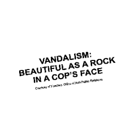 Sticker VANDALISM