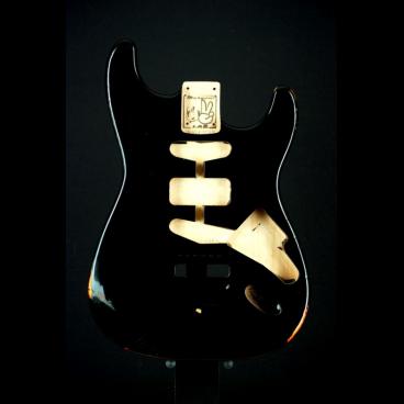 Body Black Strat Relic-David-