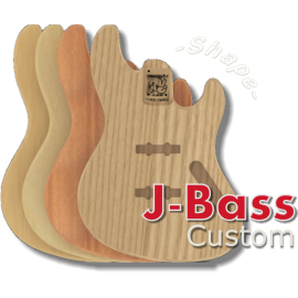 Stile jazz bass Contorno modificato