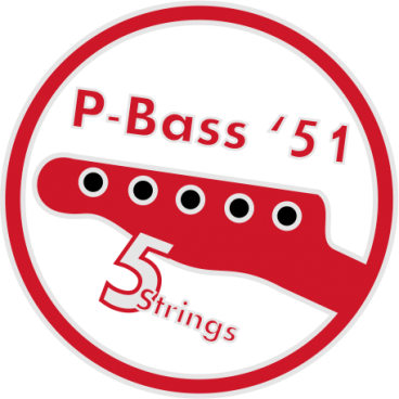 Vintage p-Bass Neck 5 strings Lefty